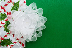 White  Organza Bow Stock Images