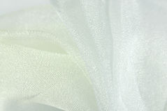 White organza fabric texture Royalty Free Stock Images