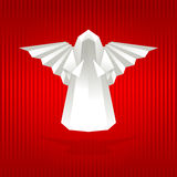 White origami angel. Royalty Free Stock Photo