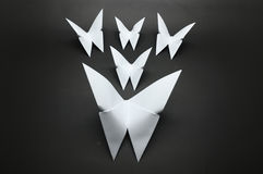 White origami butterfly paper Royalty Free Stock Photo