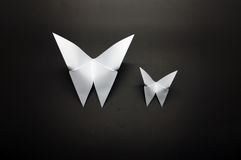 White origami butterfly paper Royalty Free Stock Photos