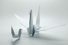 White origami crane, bird, paper Royalty Free Stock Photography