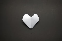 White origami heart shape paper Stock Photography