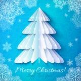 White origami paper christmas tree Stock Photos