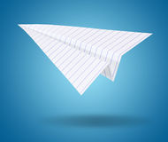 White origami plane Stock Images