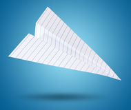 White origami plane Stock Photography