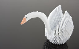 Free White Origami Swan On Grey Surface Stock Images - 17895124