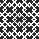 White ornament on a black background. Intersecting rhombs. Painted by hand rough brush. Geometric seamless grunge pattern. Vector illustration vector illustration