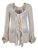 White ornament blouse shirt  jacket Royalty Free Stock Photography