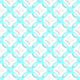 White ornament with cyan seamless Stock Photography