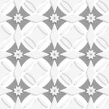 White ornament and gray crosses Royalty Free Stock Photography