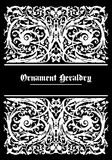 White ornament heraldic Royalty Free Stock Image