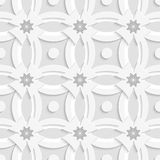 White ornament net gray flowers and white crosses Royalty Free Stock Images