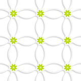 White ornament net and green flowers Stock Photos