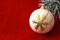 White Ornament in Red Background royalty free stock photos