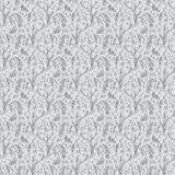 White ornamental pattern with patterns in the form of flowers an. D plants. 3d render royalty free illustration