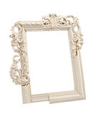 White ornate frame Royalty Free Stock Photo