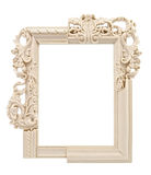 White ornate frame Royalty Free Stock Image