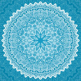 White ornate lacy napkin, vector circle pattern. This is file of EPS10 format Royalty Free Stock Images