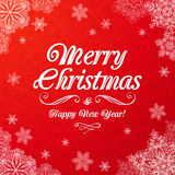 White ornate Merry Christmas sign Royalty Free Stock Images