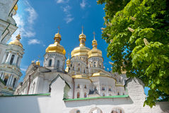 White orthodox cathedral in Ukraine Royalty Free Stock Photo