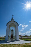 White Orthodox chapel Royalty Free Stock Photography