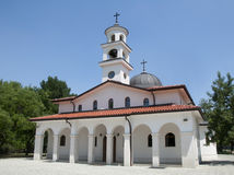 White Orthodox Church Stock Photo
