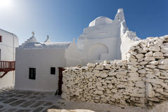 White orthodox church in Mykonos, Cyclades, Greece Stock Photography