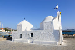 White orthodox Greek church Stock Image