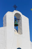 White orthodox Greek church Stock Photos