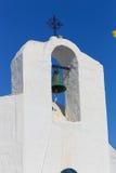 White orthodox Greek church Stock Photos