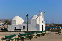 White orthodox Greek church Stock Image