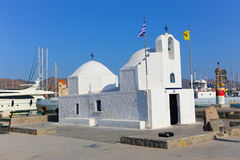 White orthodox Greek church Royalty Free Stock Photo