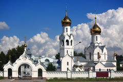 The white orthodox monastery near Novosibirsk Royalty Free Stock Photo