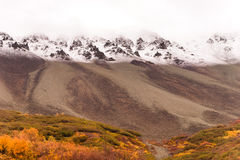 White out conditions occur above treeline Remote Alaska Royalty Free Stock Image
