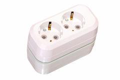 White outlet isolated Stock Photography