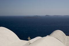 White outline against blue sea Stock Photography