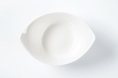 White oval bowl Royalty Free Stock Images