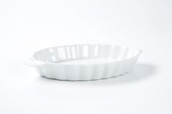 White oval bowl Stock Photography
