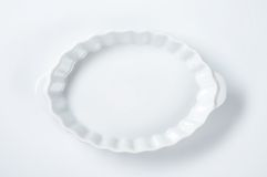 White oval bowl Royalty Free Stock Image