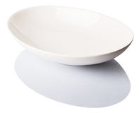 White Oval Bowl VI Royalty Free Stock Photography