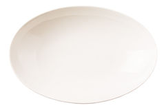 White Oval Bowl VIII Royalty Free Stock Photography