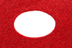 White oval formed with red gravel Stock Photography