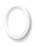 White oval frame. Royalty Free Stock Images