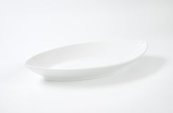 White oval plate stock images