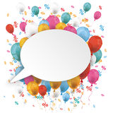 White Oval Speech Bubble Balloons Percents Royalty Free Stock Photos