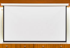 A white overhead projector on ceiling in meeting room Stock Images