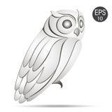 White Owl profile logo. Stock vector Stock Photo