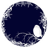 White owl xmas theme vector design Royalty Free Stock Photos