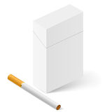 White Pack of cigarettes Stock Images